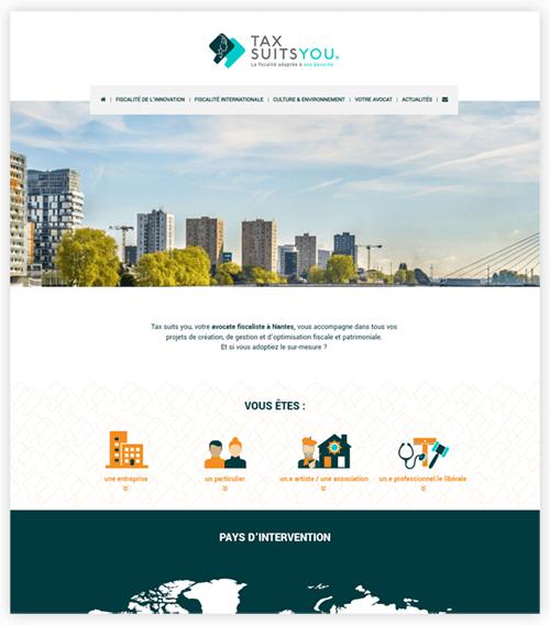 Webdesign du site Tax Suits You